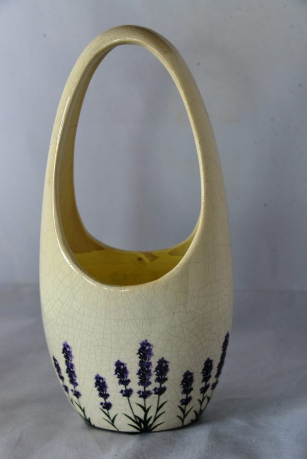 Ceramic long handled vase