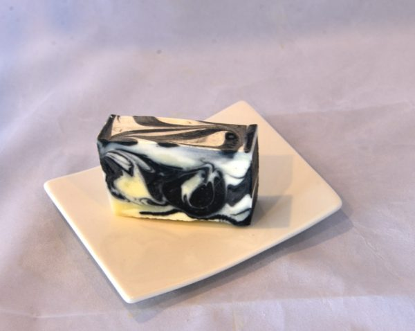 Lavender charcoal soap