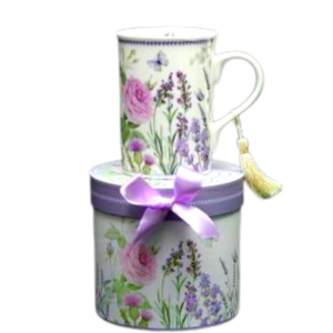 Lavender and rose 10oz mug