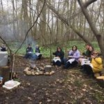 Campfire gourmet lunch at Serenity Lavender
