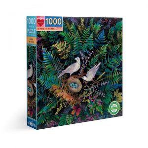Eeboo 1000 piece puzzle Birds in Fern