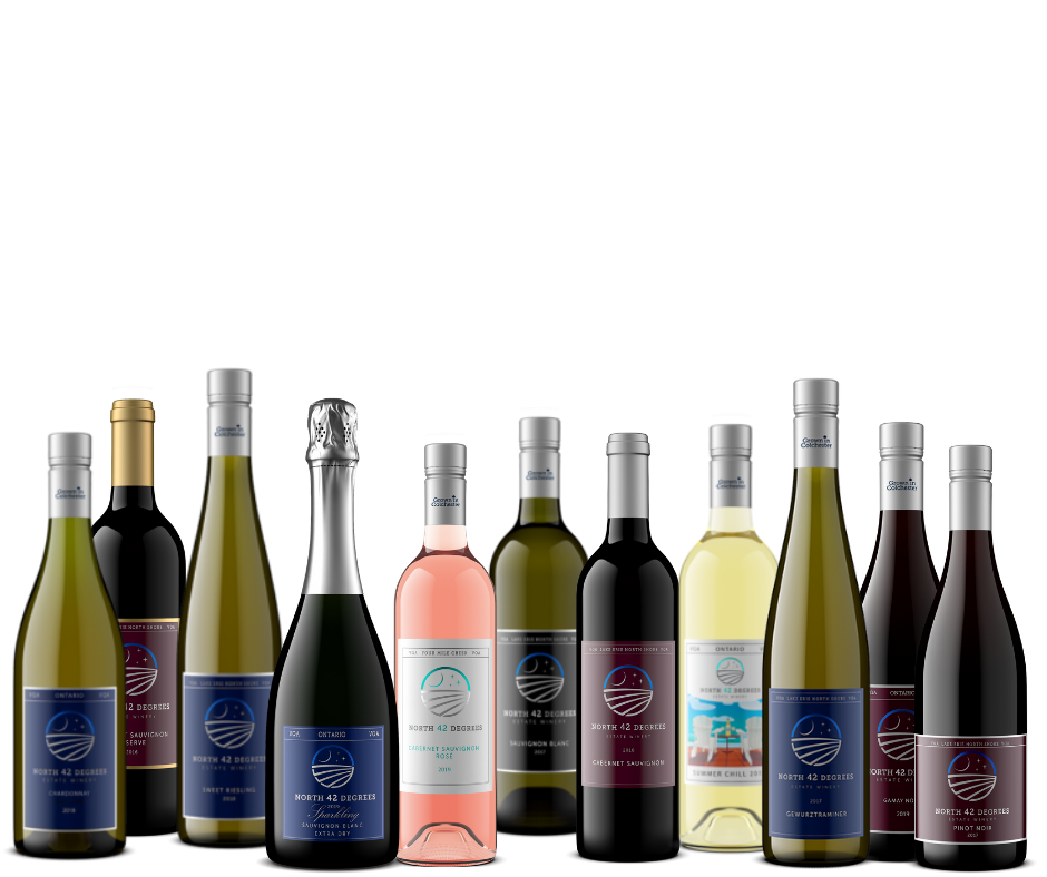 Award winning wines from our sister company North 42 Degrees Estate Winery