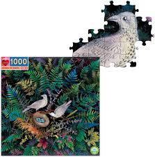 Eeboo 1000 piece puzzle Birds in Fern