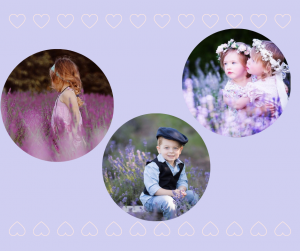 Family and child photos are beautiful at Serenity Lavender