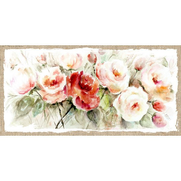 Bunch of Roses Flax print