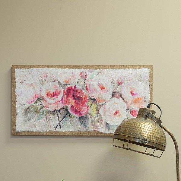 Warm coloured rose art print