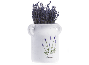 Lavender ceramic vase with 2 handles