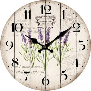 Ephemera french country lavender wall clock
