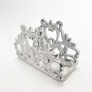 Napkin holder cream cast iron