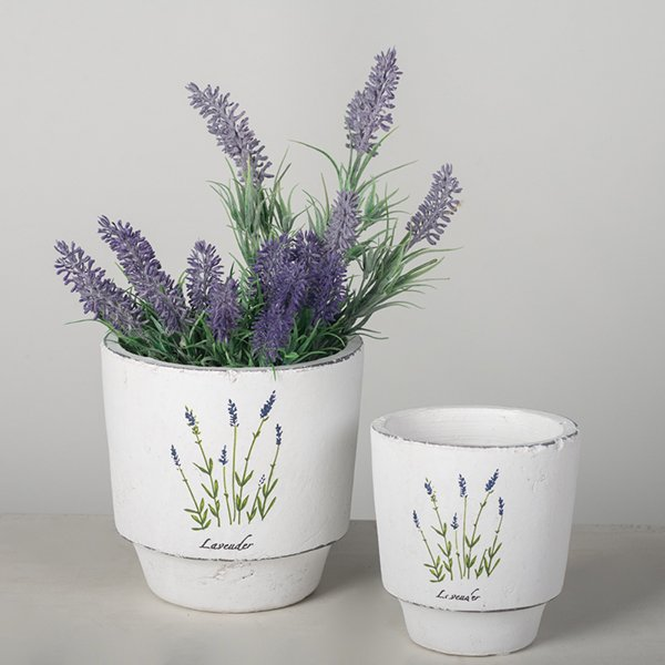 Classic lavender planters