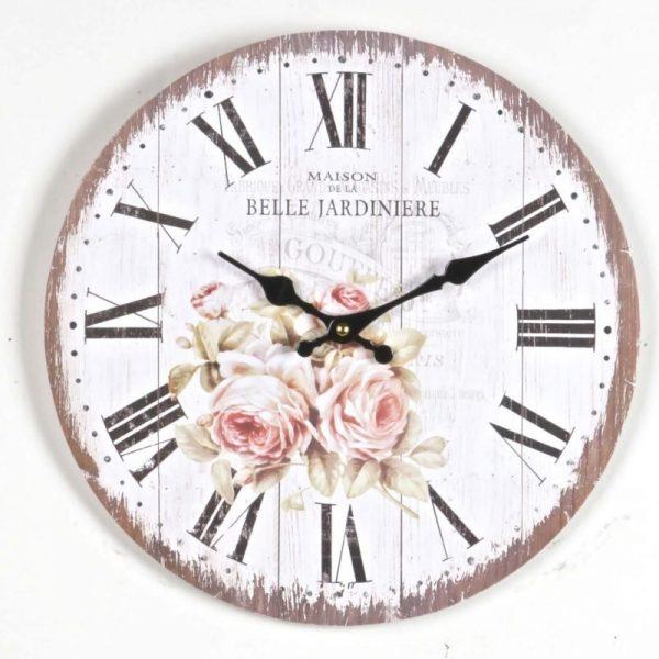 wooden Rose wall clock