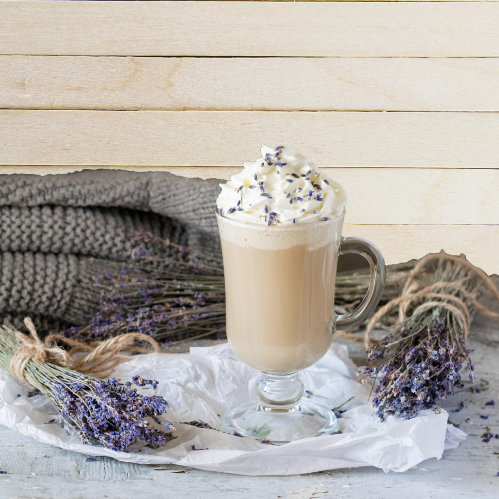 Wake up to a lavender latte